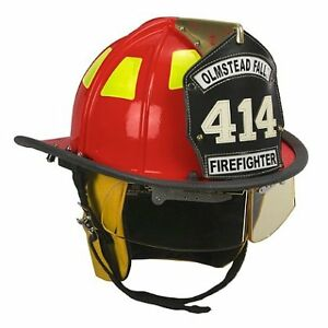 Cairns Red 1010 Traditional Fiberglass Helmet Nfpa Osha 1010 With Defender