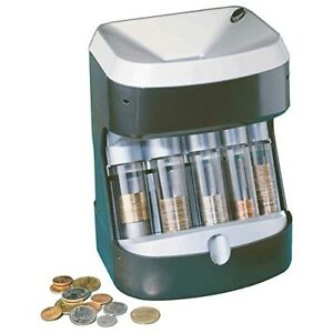 Coin Sorter Machine Tube Stack Count Wrapper Bank Business New