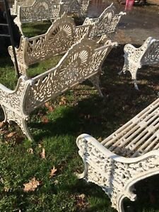 Cast Iron Crown Bench