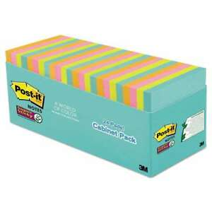 Post it Notes Super Sticky Pads In Miami Colors 3 X 3 70 pad 0