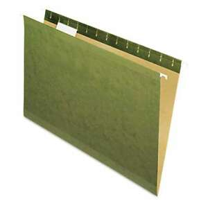 Pendaflex Hanging File Folders No Tabs Legal Standard Green 078787431171