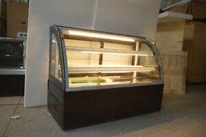 47 Countertop Bekery Cabinet Display Case Glass Refrigerated Cake Showcase 220