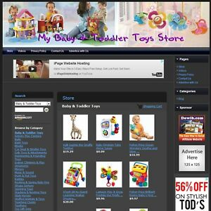 Baby And Toddler Toys Store Affiliate Online Website For Sale Free Domain Name