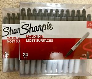 Sharpie Marks On Most Surfaces The Original Fine Permanent Marker 48ct 2 Pack