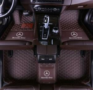 Car Floor Mats logo Fit For 2005 2019 Mercedes benz All Models Luxury Custom