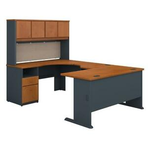 Series A 60w U Shaped Desk With Hutch And 2 Drawer Pedestal