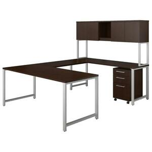 400 Series 72w X 30d U Shaped Table Desk With Hutch And 3 Drawer Mobile File