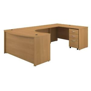 Series C 60w Right Handed Bow Front U Shaped Desk With Mobile File Cabinet