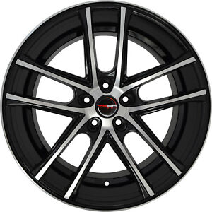 4 Gwg Zero 22 Inch Black Machined 22x9 Rims Fits Ford Shelby Gt 500 2007 2020