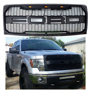 Black 2009 2014 F150 F 150 Proven Ground Grille W Ford Lettering