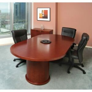 Conference Tables 8 Racetrack Conference Table Medium Cherry
