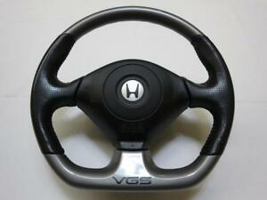 Honda Acura Jdm Vgs Steering Wheel With Horn Pad Very Rare Leather