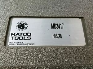 Matco Tools Auto Diagnostic Scanner Md3417 Class 4 8 Diesel Hd Scan Mint I 1636