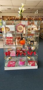 Glass Cube Store Display Fixture Collectors Shelving Retail 2 Available