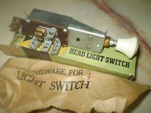 1942 1946 1947 Chrysler Dodge Plymouth Headlight Switch New Old Stock 6 Volt