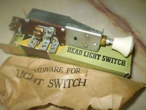 1948 1949 1950 Chrysler Dodge Plymouth Headlight Switch New Old Stock 6 Volt