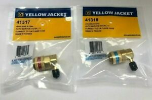Bundle Yellow Jacket 41318 41317 Lo And High Side Couplers With 1 4 Flare