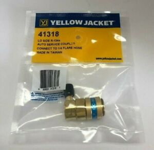 Yellow Jacket 41318 Automotive R134a Lo side Coupler With 1 4 Flare