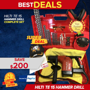 Hilti Te 15 Rotary Hammer Drill Preowned Free Laser Extras Fast Shipping
