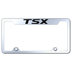 Truck License Plate Frame With Acura Tsx On Mirrored officially Licensed