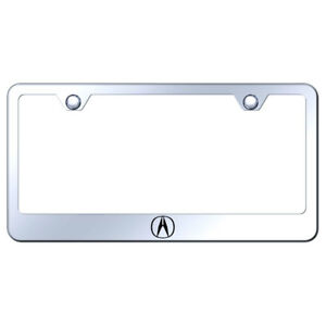 License Plate Frame With Acura Logo On Mirrored officially Licensed