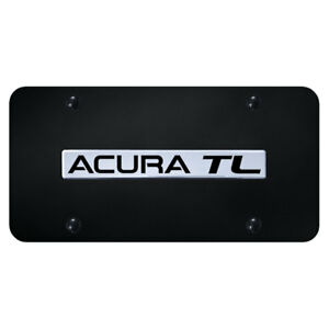 License Plate Chrome With Acura Tl On Black officially Licensed