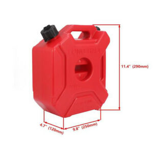 5l 1 3 Spare Gallon Gas Gasoline Fuel Tank Container Fit For Motorcycle Mount