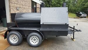 Double Grills Mini T Rex Bbq Smoker Cooker Trailer Mobile Food Truck Business