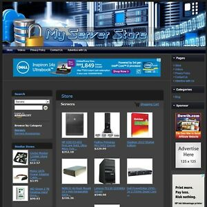 Servers And System Components Store Premium Affiliate Business Website For Sale