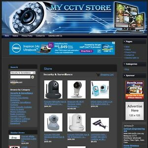 Security Cctv Surveillance Store Online Affiliate Business Website For Sale