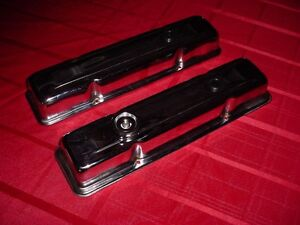 Small Block Chevy Chrome Valve Covers 302 327 350 Cu In Engines Outside Bolts