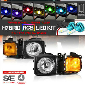 Multi Color Led Low Beam 2006 2010 Hummer H3 Factory Look Headlight Assembly