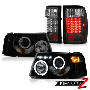 Sinister Black Projector Halo Headlights Led Taillamp 2001 2011 Ford Ranger 3 0l