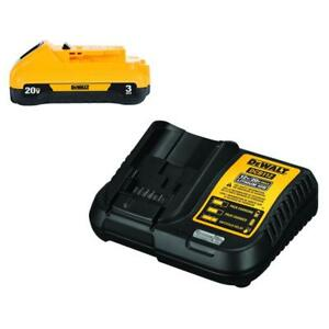 Dewalt 20 volt Max Lithium ion Battery Pack 3 0ah With Charger