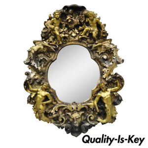 Finesse Originals Fantasy Gothic Angel Cherub Zodiac Brutalist Style Wall Mirror
