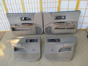 91 96 Chevy Chevrolet Caprice Tan 4dr Interior Door Panel Set W Accessories