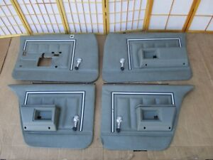 77 90 Caprice Delta 88 Lesabre Parisienne Gray 4dr Manual Crank Door Panel Set