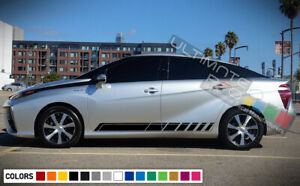 Side Stripe Decal Sticker Kit For Toyota Mirai Racing Tune Part Engine 2017 2018