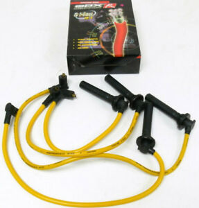 Sporty Yellow Spark Plug Wires For 1 6l Honda Civic Crx Delsol Acura El By Obx