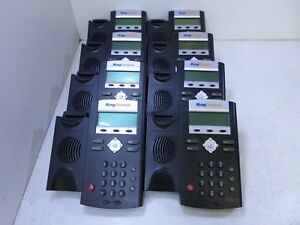 Lot Of 8 Polycom Ip321 Soundpoint 2201 12360 001 Ip Phones T6 d6