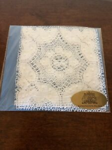 Brand New In Original Package 4 Nottingham Lace Coasters By Wetherall Lace