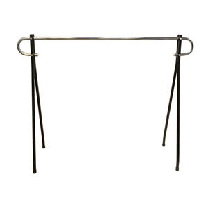 Black 48 h X 62 l Commercial Single Bar Clothing Clothes Garment Rack Retail