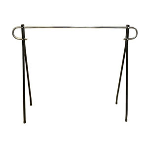 Black 54 h X 62l Commercial Single Bar Clothing Clothes Garment Rack Retail