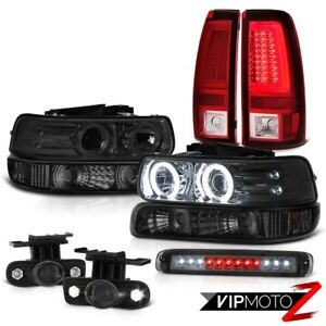 99 02 Silverado Lt Taillights Roof Cab Lamp Bumper Light Headlamps Fog Lamps Led