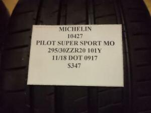 1 New Michelin Pilot Super Sport Fits Mercedes 295 30 20 101y 10427 Q8