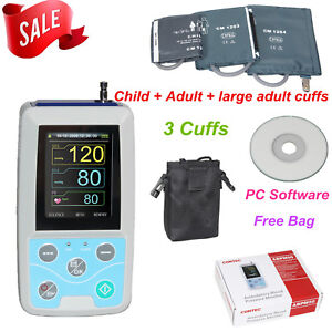 Abpm50 Ambulatory Blood Pressure Monitor 3 Cuff pc Sw pulse Rate nibp Holter 24h