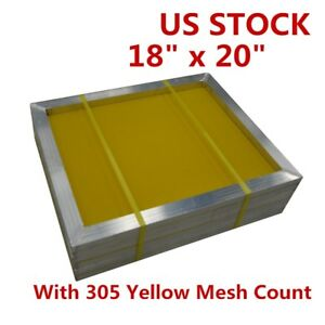 6pcs 18 x20 Aluminum Screen Printing Frames With 305 Yellow Mesh Count Us Stock