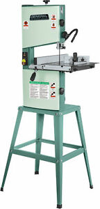 10 Wood Cutting Band Saw 1 2hp Stationary Green Vertical Blades Led Lighting