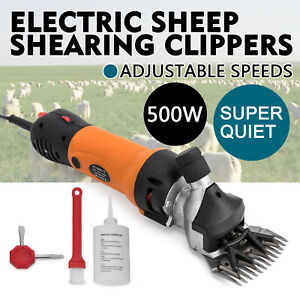 500w Electric Sheep Goat Shears Clippers Animal Shave 2600rpm Livestock Aluminum