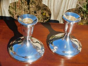 A Vintage Set Of Console Candle Sticks By International Silver Company 915 4s